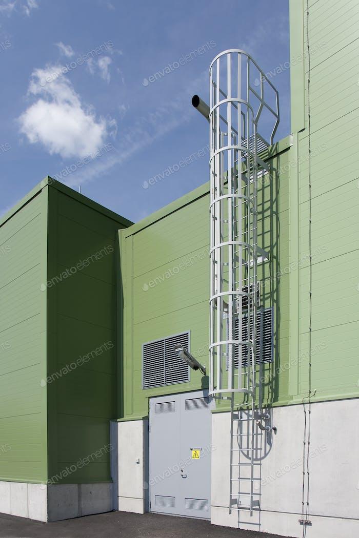 Ladder on Industrial Building