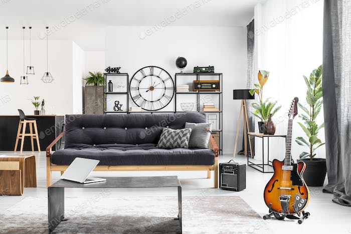 Living room for musician