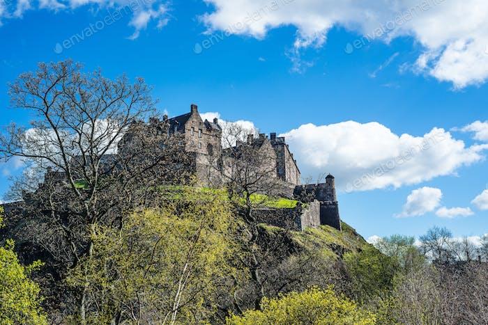 Edinburgh Castle on Castle Rock in Edinburgh, Scotland