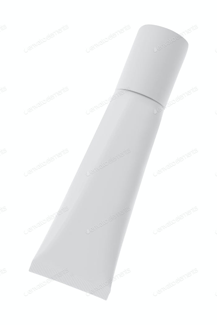 White tube isolated on white