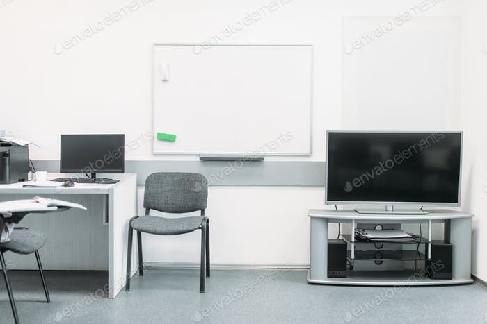 Comfortable business office with modern equipment