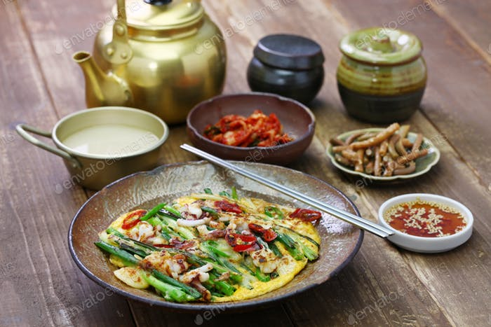 pajeon, korean scallion pancake