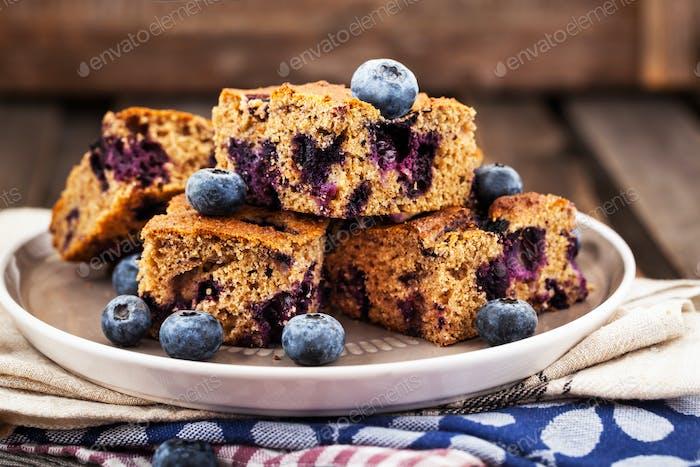 Blueberry buckwheat coffee cake