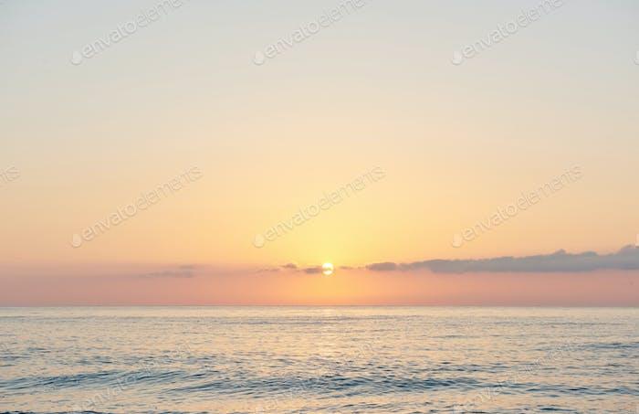 pink sky. Dramatic sunset and sunrise sky