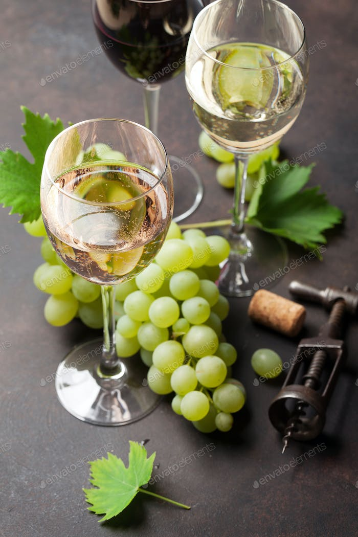 Thumbnail for Wine glasses and grapes