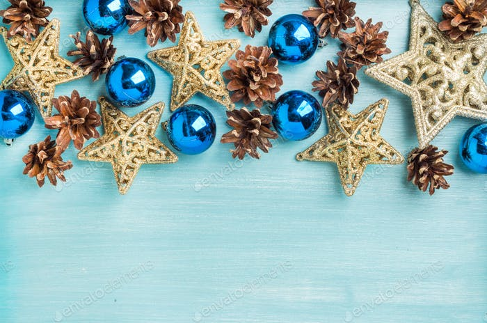 Christmas or new year decoration background