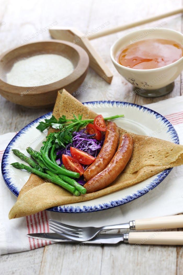 galette du triangle, buckwheat crepe