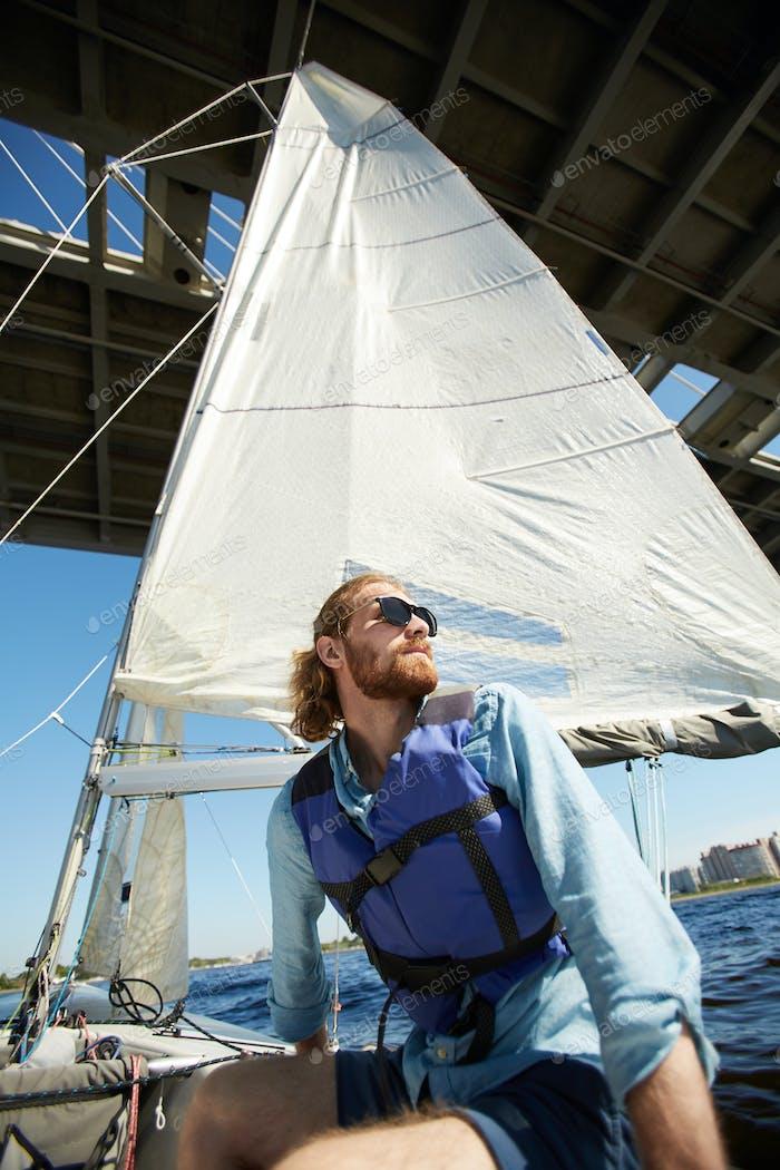 Seemann Gefühl Freiheit auf dem Boot