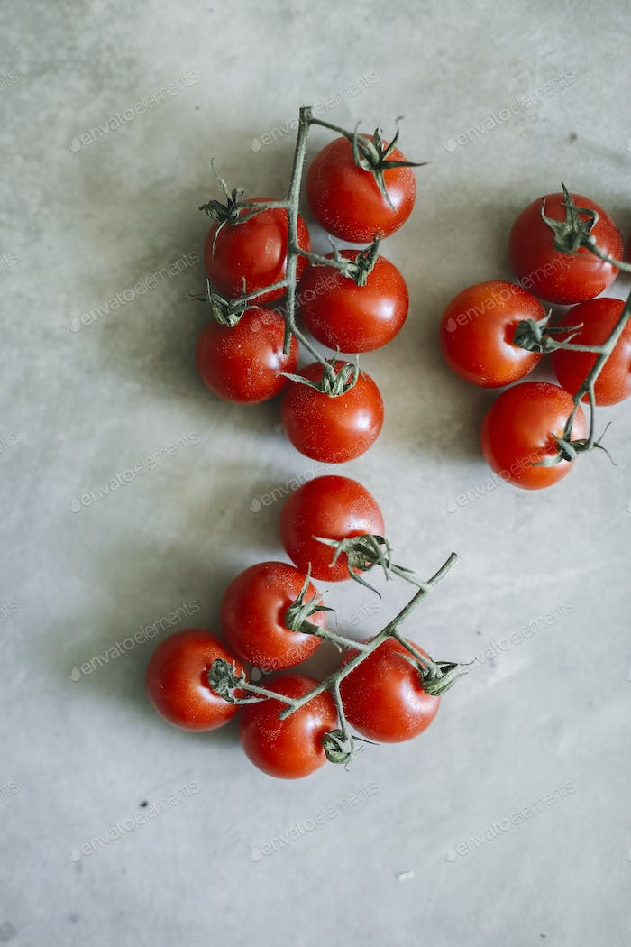 Fresh organic cherry tomatoes food recipe idea