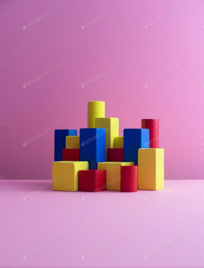 Color block cubes