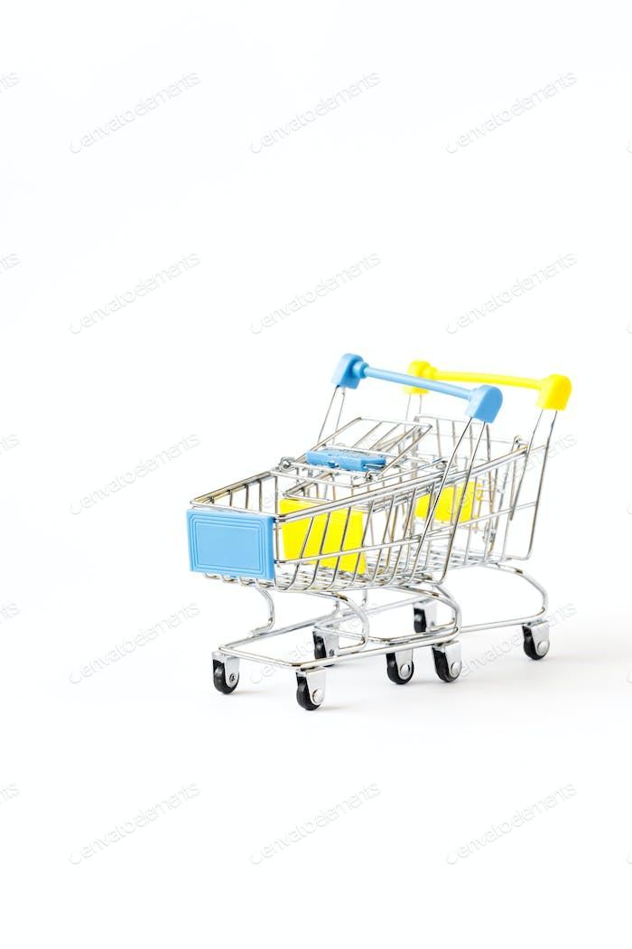 Shopping cart trolley basket .Conception Festive Sale Discount