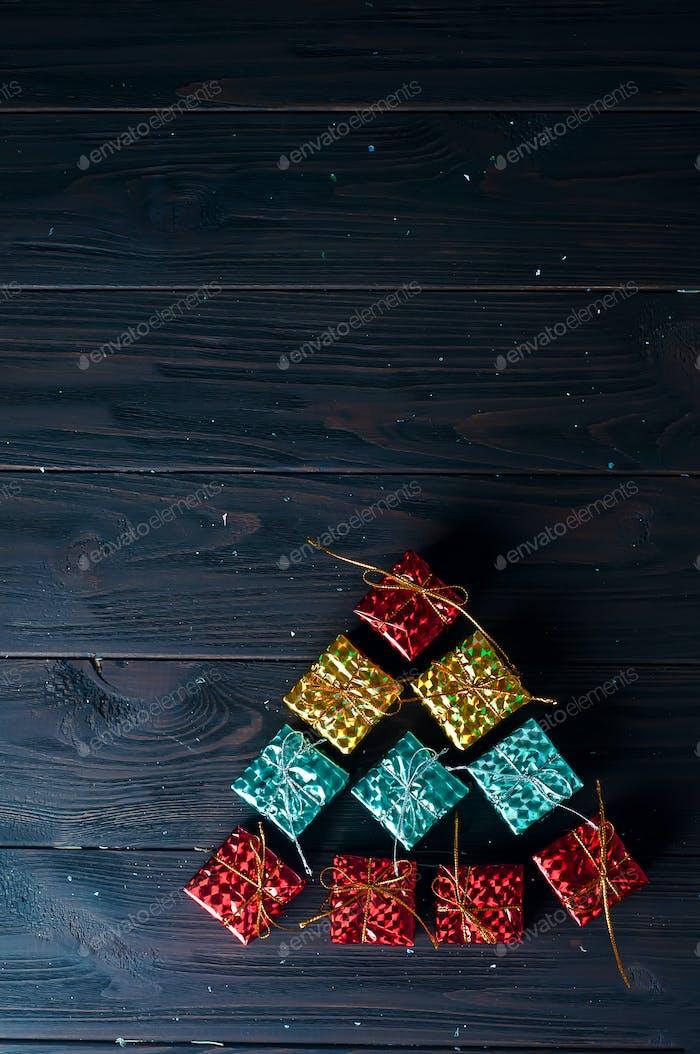 Christmas tree made of colorful balls
