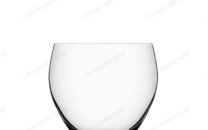 Leeres Weinglas isoliert
