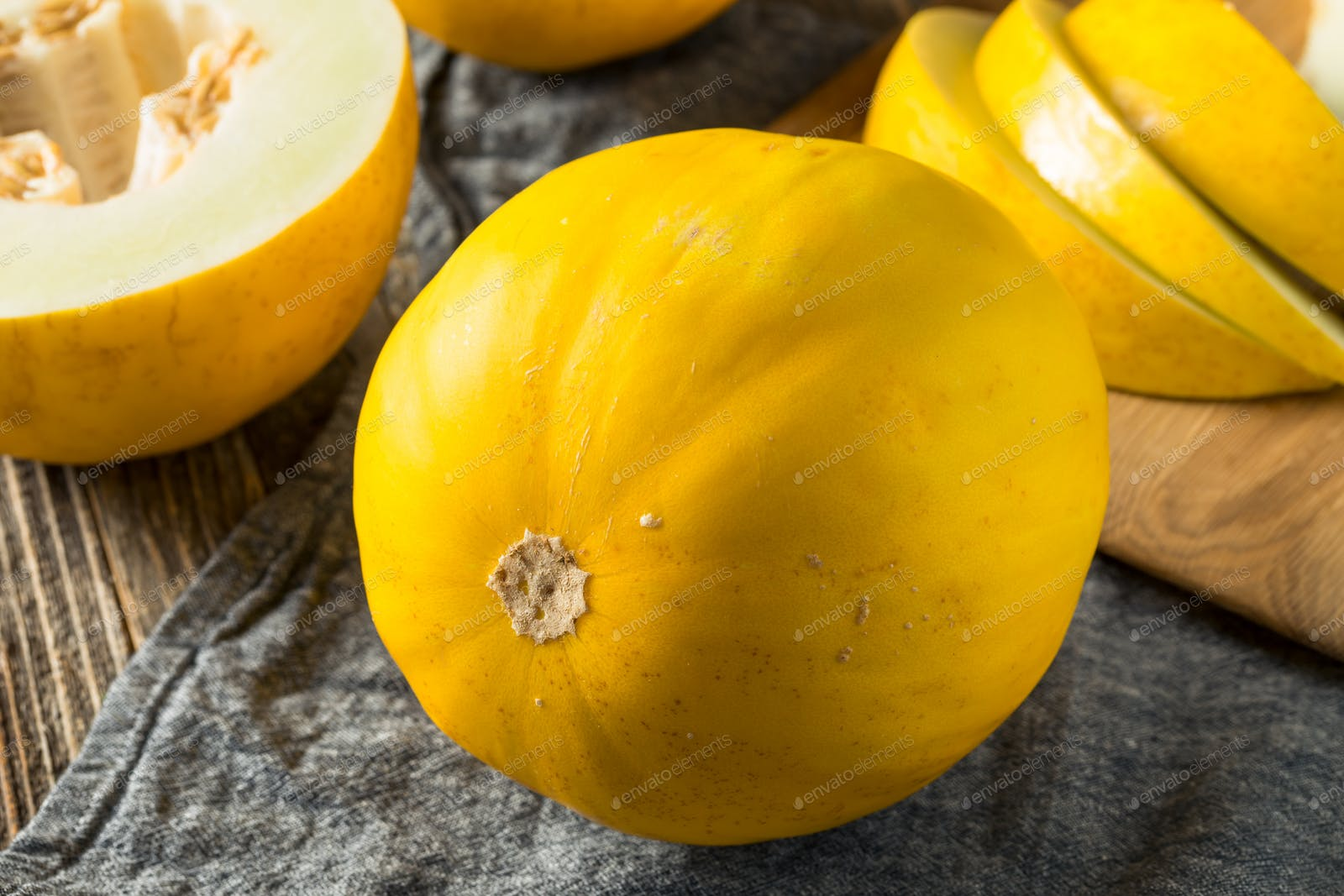 Raw Yellow Organic Canary Melon photo by bhofack2 on Envato ...