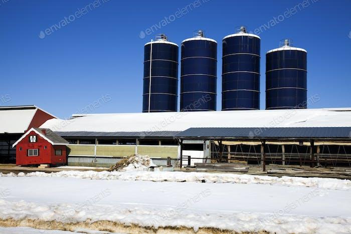 Midwest Farm im Winter
