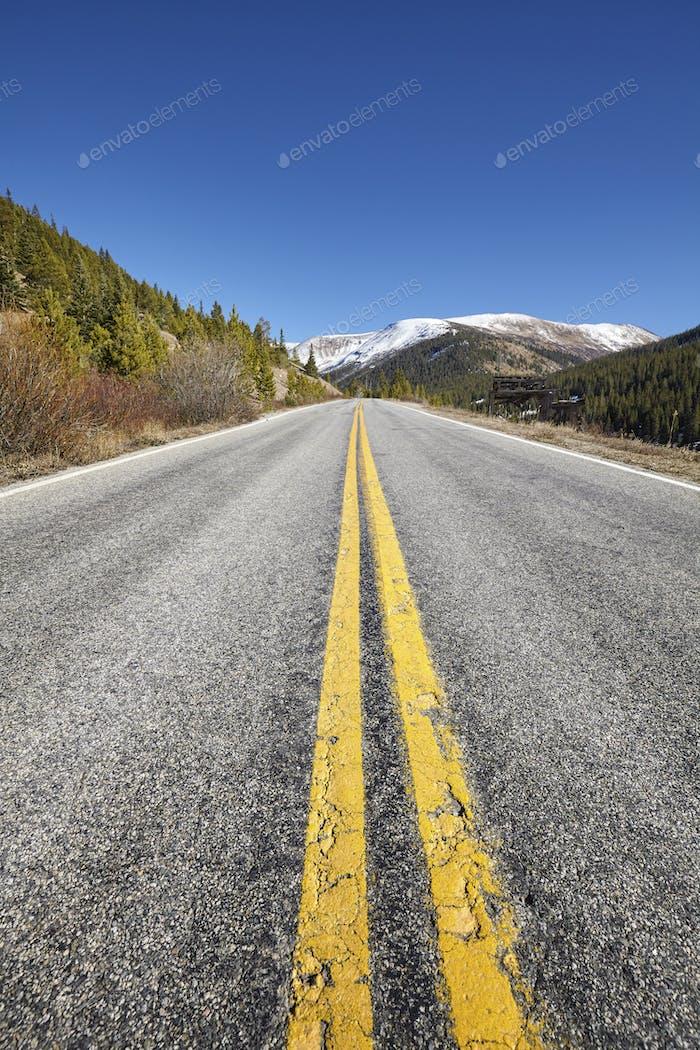 Scenic mountain road, travel concept picture, Colorado, USA