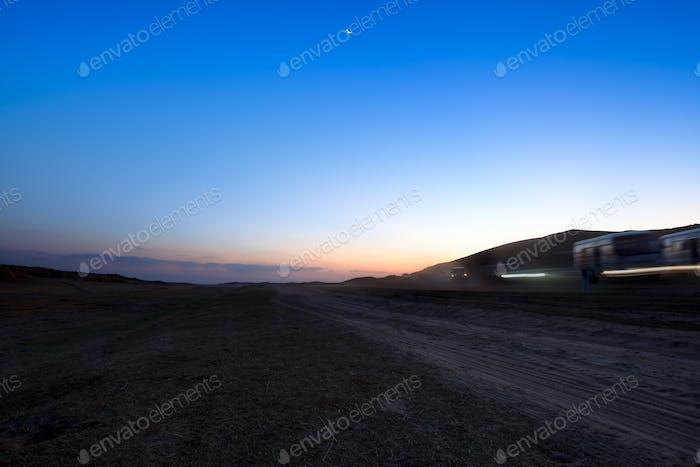 prairie at dusk