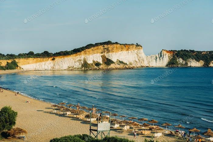 viewpoint of gerakas beach in the island of zakynthos