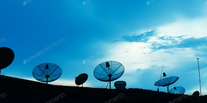 Satellite dish on the roof, Thailand