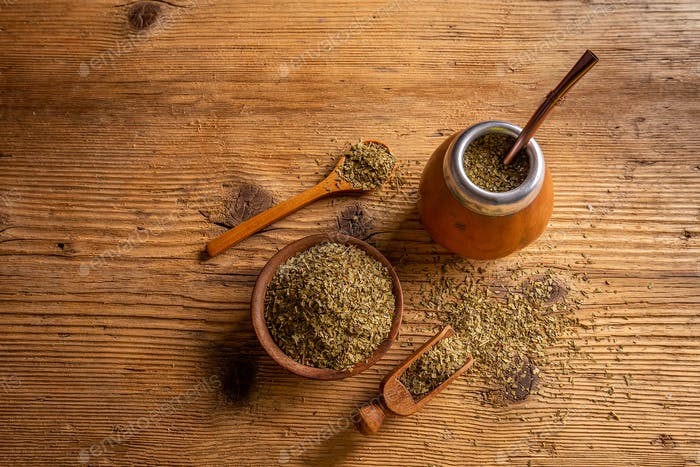 Traditional South American yerba mate
