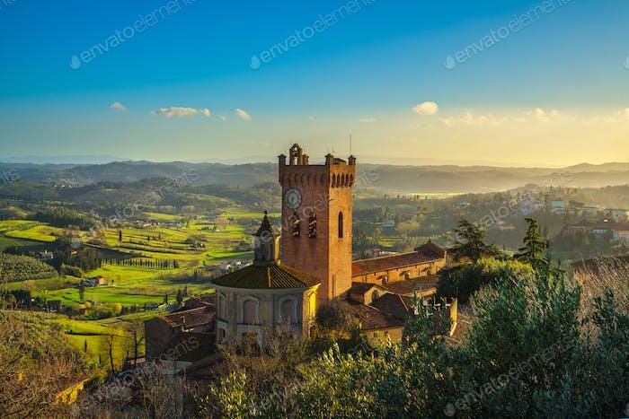 San Miniato Glockenturm der Kathedrale. Pisa, Toskana Italien Eur