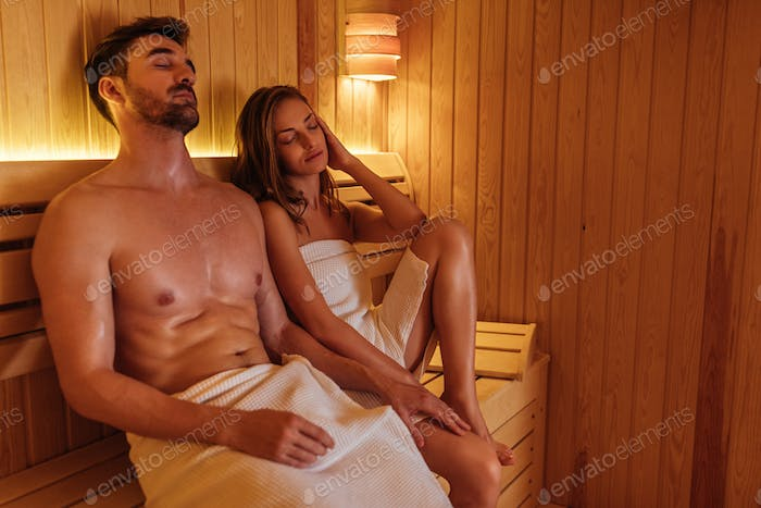Letting the sauna relax and pamper them
