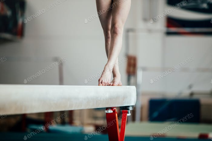 feet young girl athlete gymnast