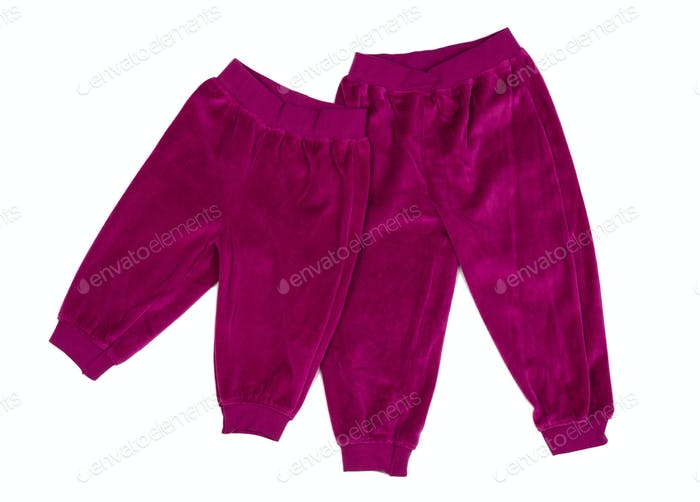 Crimson Cotton baby pants.
