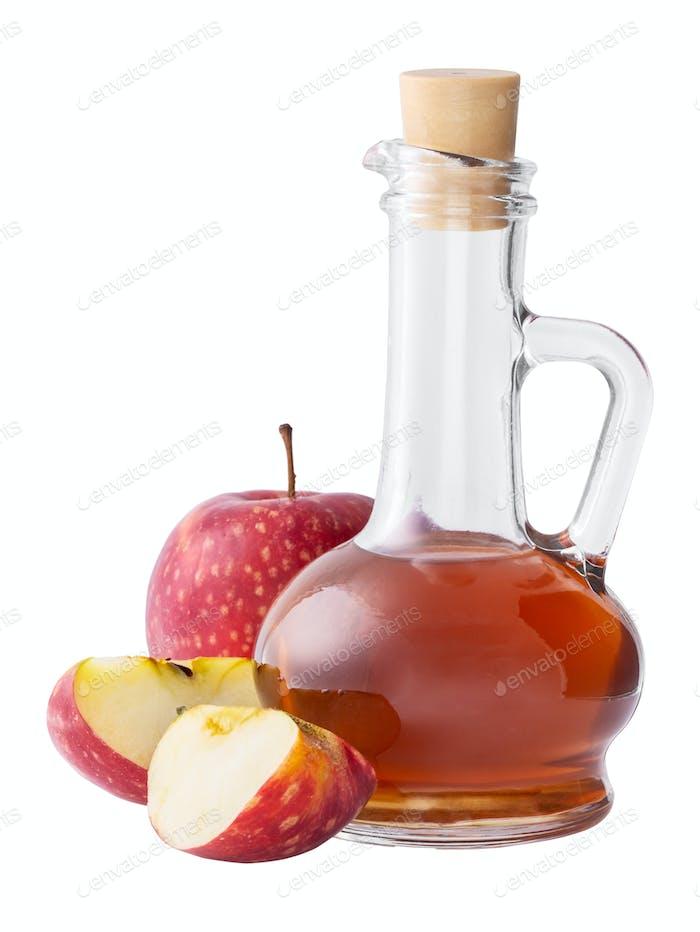 Apple vinegar isolated