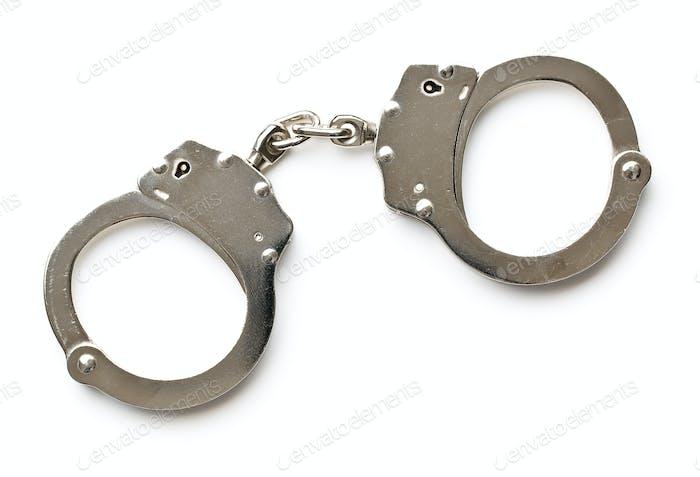silver handcuffs