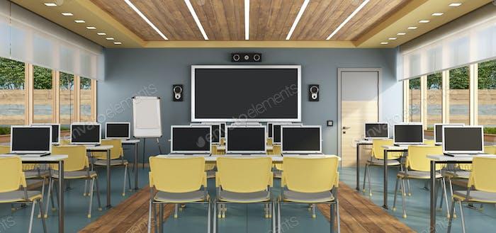 Modernes Multimedia-Klassenzimmer