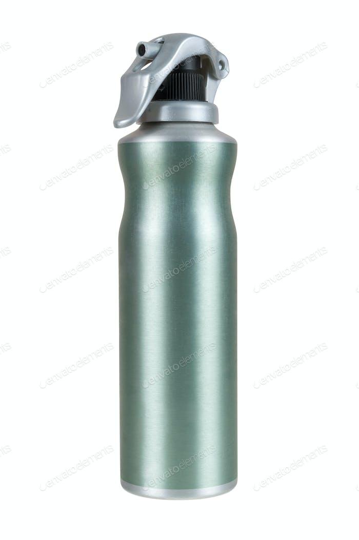 Grüne Spraydose auf weißem Hintergrund