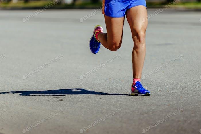Beine Läufer Männer Laufen Straße
