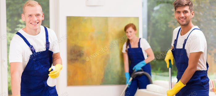 Thumbnail for Cleaners cleaning a house