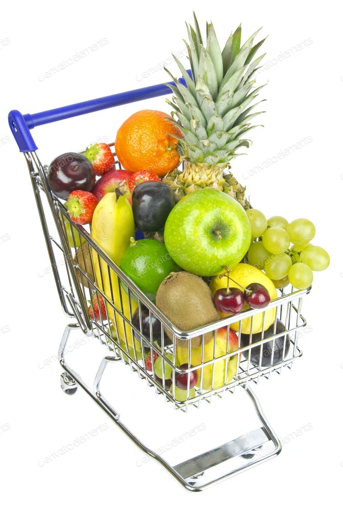 Shopping Cart and Fruit