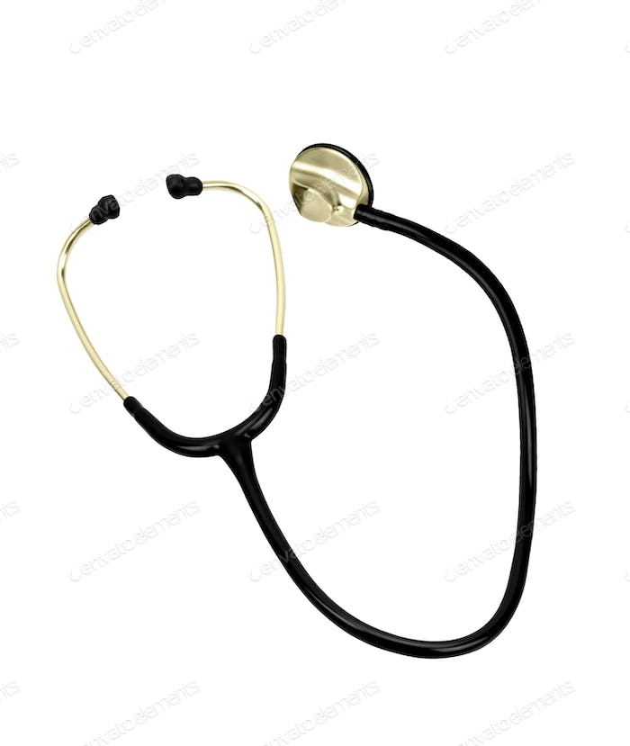 Doctor's stethoscope on a white background