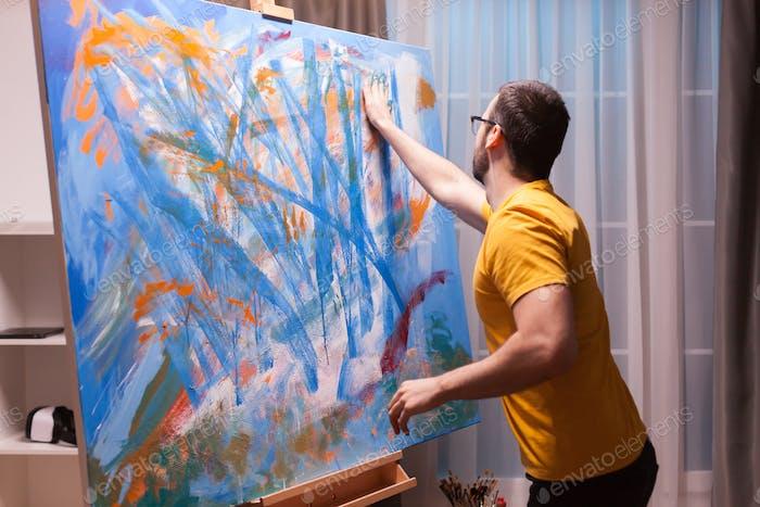 Hand painting technique