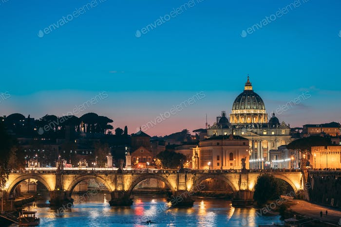 Rom, Italien. Päpstliche Basilika von St. Peter Im Vatikan Und Aeli