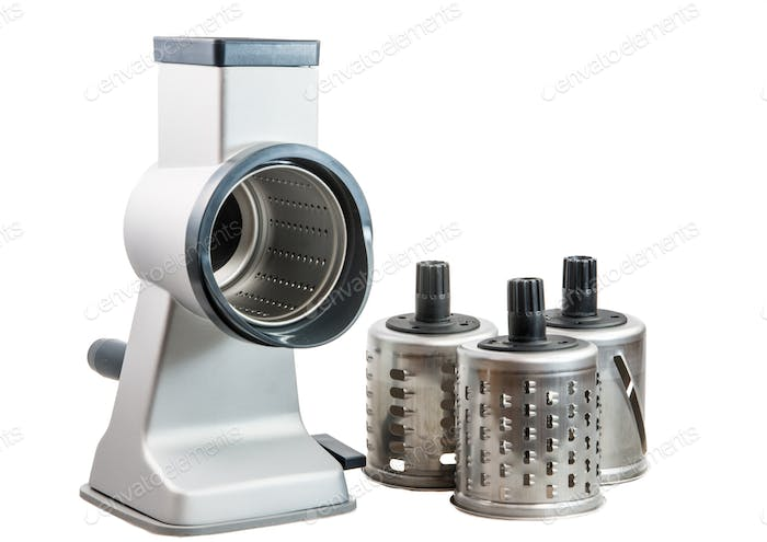 Isolated Rotary Cheese Grater