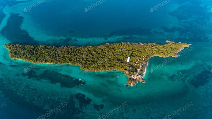 Thumbnail for aerial view of the chumbe island coral park, Zanzibar