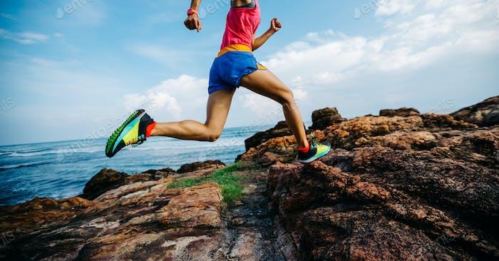 Running on seaside