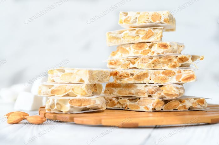 Bunch of spanish turron