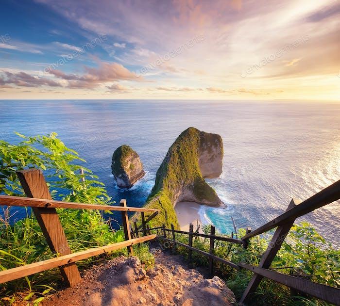 Kelingking beach, Nusa Penida island, Indonesia.