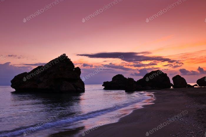 Porto Zoro beach sunrise