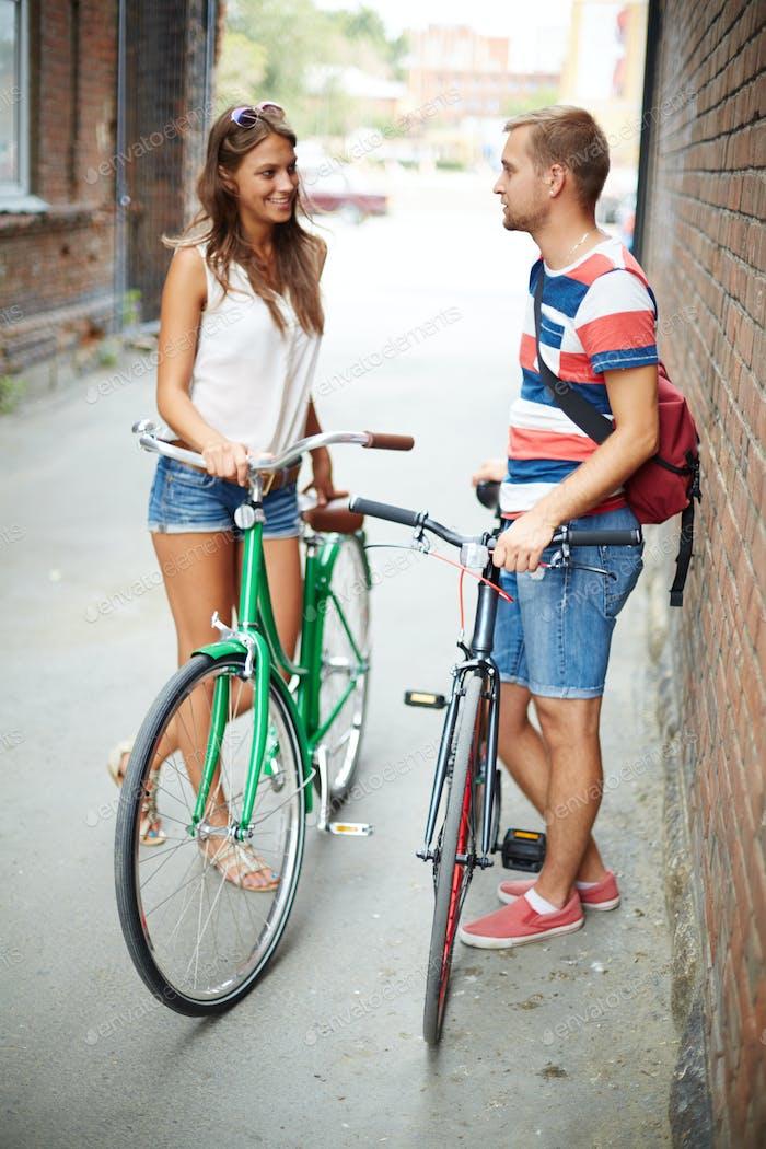 Friendly bicyclists