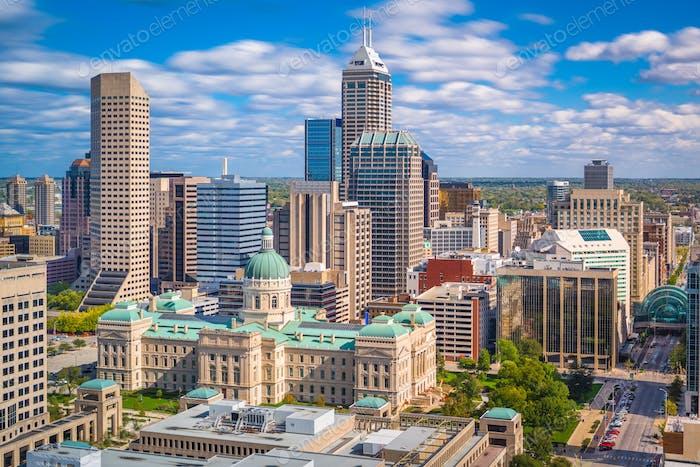 Indianapolis, Indiana, USA Innenstadt Skyline