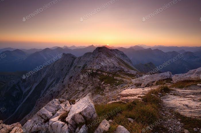 sunrise from Grosse Daumen peak