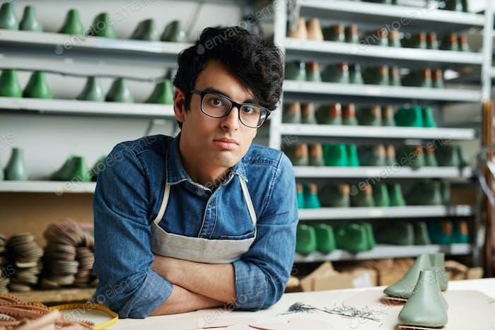 Cobbler in workshop