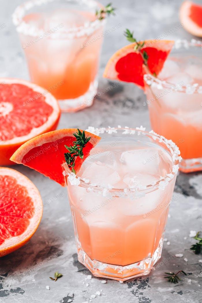 Grapefruit salziger Hund Cocktail