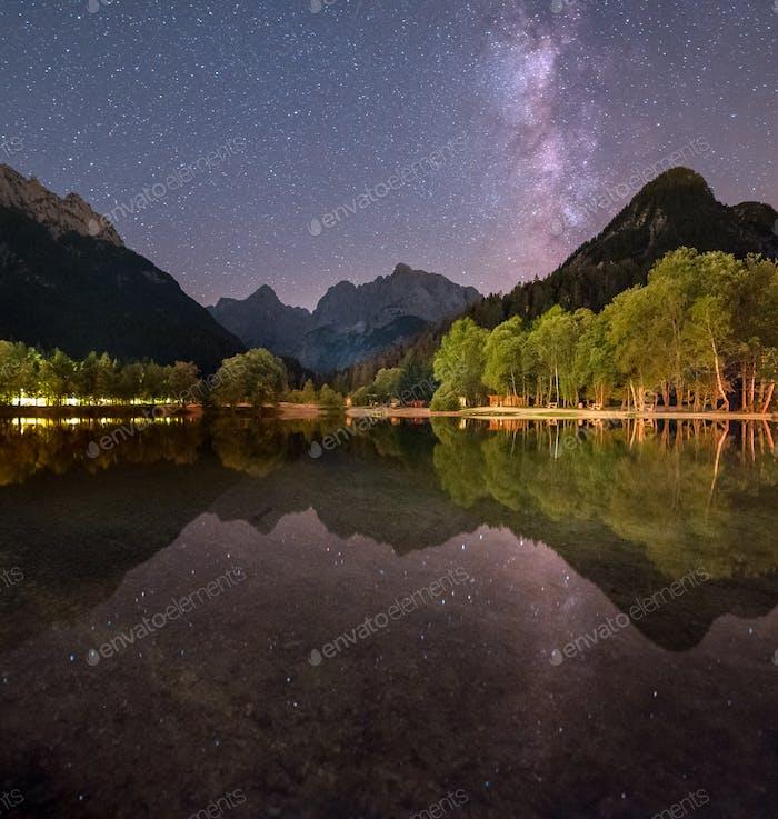 Lake in Julian Alps